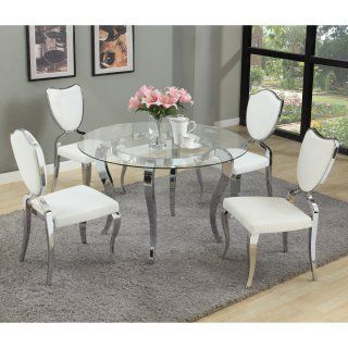Chintaly Letty Glass Top Dining Table Glass Round Dining Table