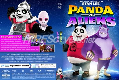 DVD Cover Custom DVD covers BluRay label movie art - DVD CUSTOM Covers - P / Panda Vs Aliens (2021)
