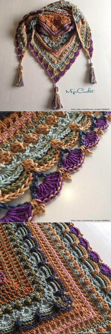 ВЯЗАНИЕ. ШАЛИ , ШАРФЫ, ПОНЧО, НАКИДКИ. #crochet #patterns #projects #clothes #free #blanket #diy #bikini