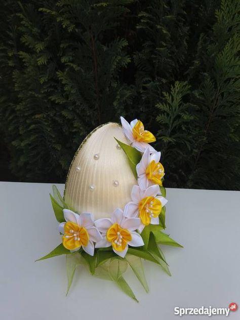 15 Zl Witam Oferuje Sliczne Jajka Wielkanocne Wykonane Wlasnorecznie Dowolna Kolorystyk Easter Flower Arrangements Fabric Christmas Ornaments Easter Crafts