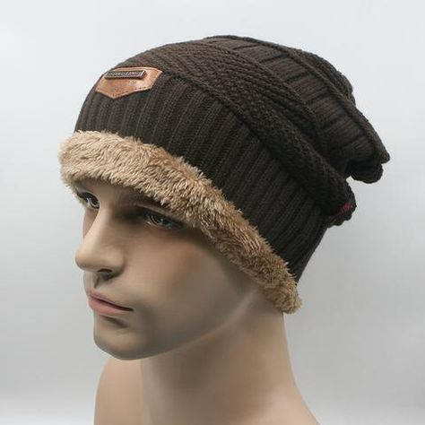 Men Warm Hats Beanie Hat Winter Knitting Wool Hat for Unisex Caps Lady  Beanie Knitted Caps e96a4b4436c4