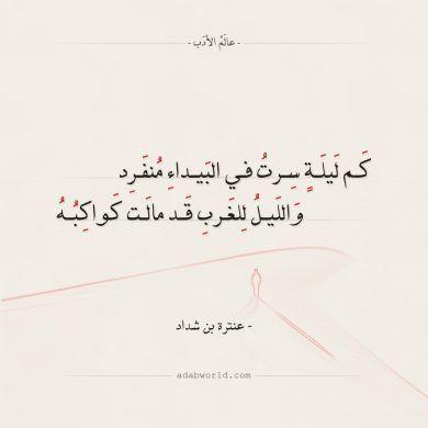 شعر عنترة بن شداد حصاني كان دلال المنايا عالم الأدب Quotes Arabic Quotes Chart