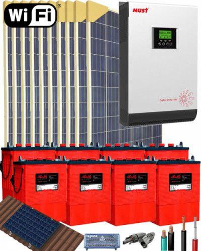 Kit Solar Vivienda Aislada 5000w 48v 16000whdia Kit Solar Sistema De Energia Solar Energia Solar