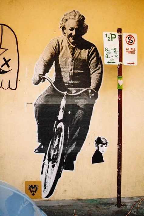 Einstein Street Art Adelaide Australia Bikes Street Art