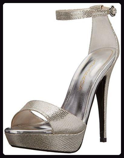 Caparros Frauen Tasha Sandalen mit Absatz Silber Groesse 8.5