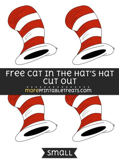 photo regarding Printable Cat in the Hat referred to as Free of charge Cat Within just The Hats Hat Slice Out - Reduced Sizing Printable Dr
