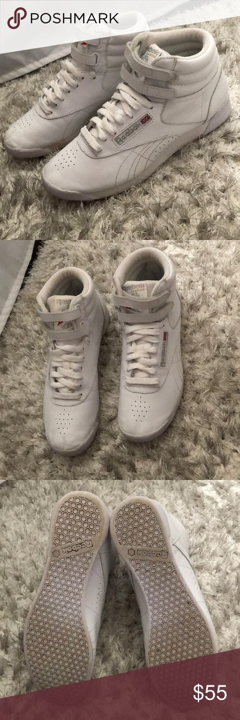 8db886ceda207 Reebok Freestyle Hi Tops In good USED condition. Minor Flaws Size 7.5 and  fits true