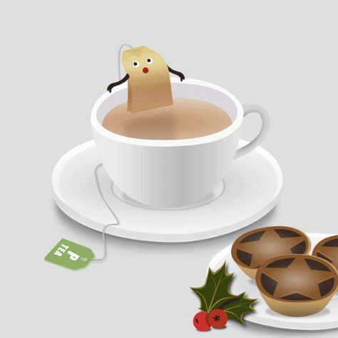 Christmas Tea Bath Animation