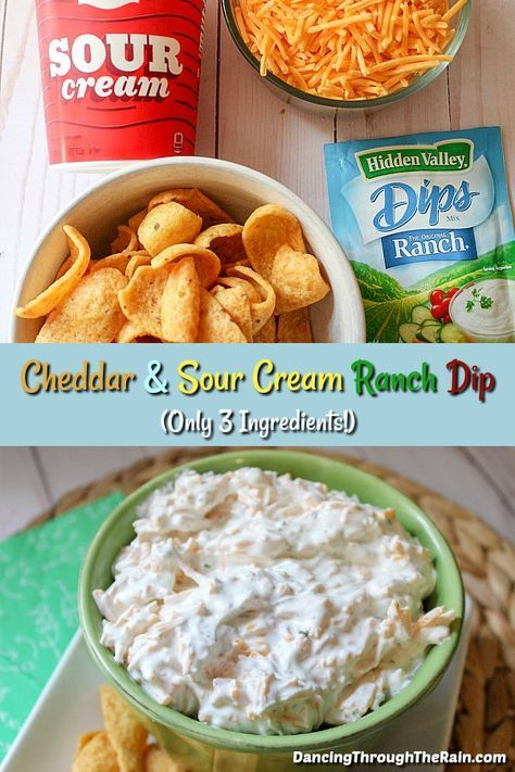 This Cheddar And Sour Cream Ranch Dip Is One Of Those Easy Appetizer Recipes That You Can Pull Out At Easy Appetizer Recipes Appetizer Recipes Dip Recipes Easy
