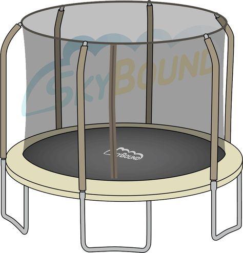 14 Ft Hd Trampoline Net Bouncepro Trampoline Parts Center Trampoline Net Fit 14ft Trampoline