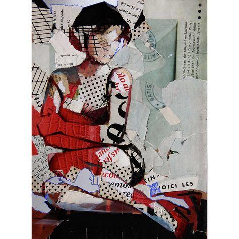 Woman Portrait, Collage