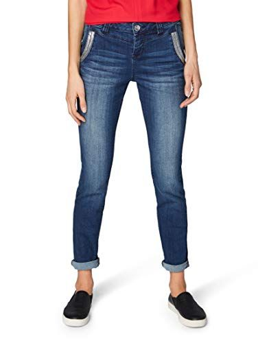 24dab0f383e8 TOM TAILOR Casual Damen Straight Jeans Gewaschene Relaxed Passform ...