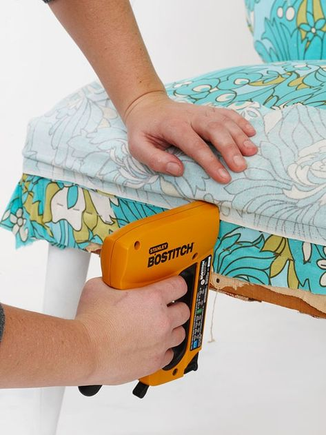 DITTO THIS: Step by step how to upholster a chair. I may need this in the future!