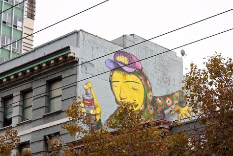 Os Gemeos; location: Market and 6th Street (SoMa)