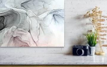 Pastel Blush Grey And Blue Acrylic Print By Elizabeth Karlson In 2020 Painting Frames Types Of Painting Fine Art America