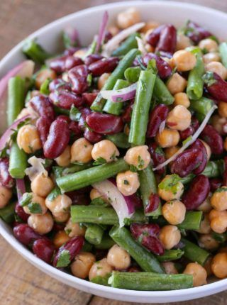 Classic Three Bean Salad Recipe Bean Salad Recipes Bean Salad Recipes Healthy Three Bean Salad