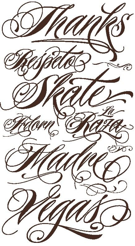 Resultado De Imagen Para Tipografias Para Tatuajes Letras Para Tatuajes Tatuajes Tipografias Tatuaje