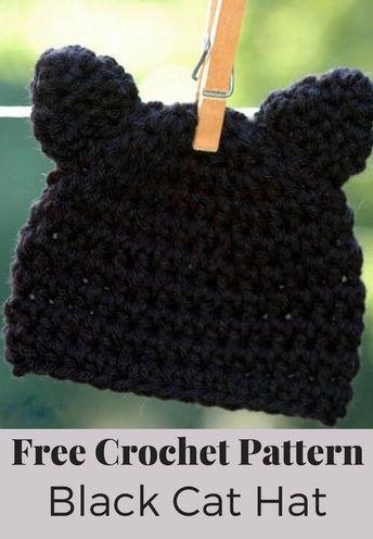 Kitty Cat Hat Crochet Pattern Crochet Hats Crochet Cat Hat Cat Hat Pattern