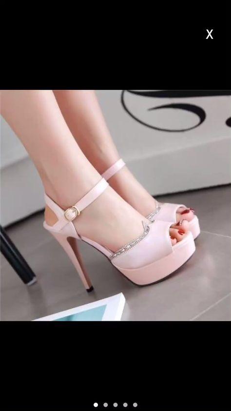 Fashion Gorgeous Peep Toe Rhinestone High Heels Sandals