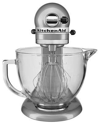Metallic Chrome 5 Quart Glass Bowl Tilt Head Stand Mixer Ksm105gbcmc Kitchenaid Kitchen Aid Replacing Kitchen Countertops Kitchenaid Artisan