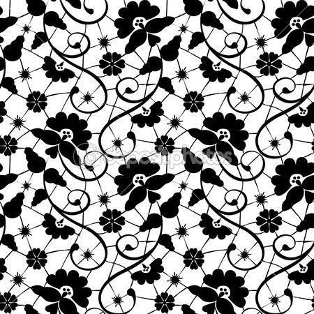 Black lace — Stock Illustration #29521489