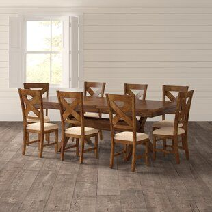 Birch Lane Chevaliers 6 Piece Dining Set Birch Lane In 2020 Solid Wood Dining Set Solid Wood Table Tops Rustic Dining Set