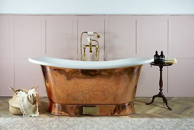 Charcoal Exterior Nickel Interior Witt /& Berg Copper Bateau Bathtub