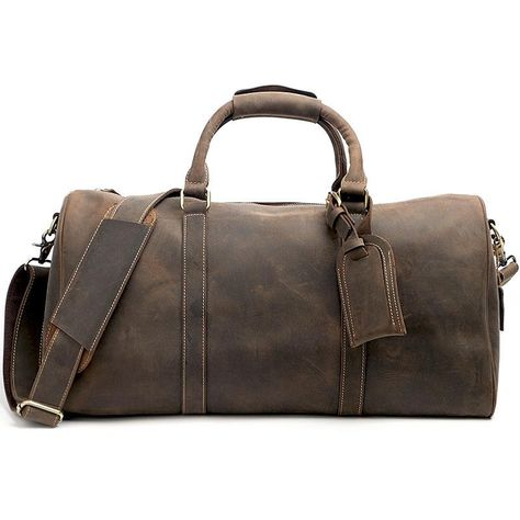 8b27b15e0 Vintage Leather Mens Large Weekender Bags Cool Travel Bag Duffle Bag f