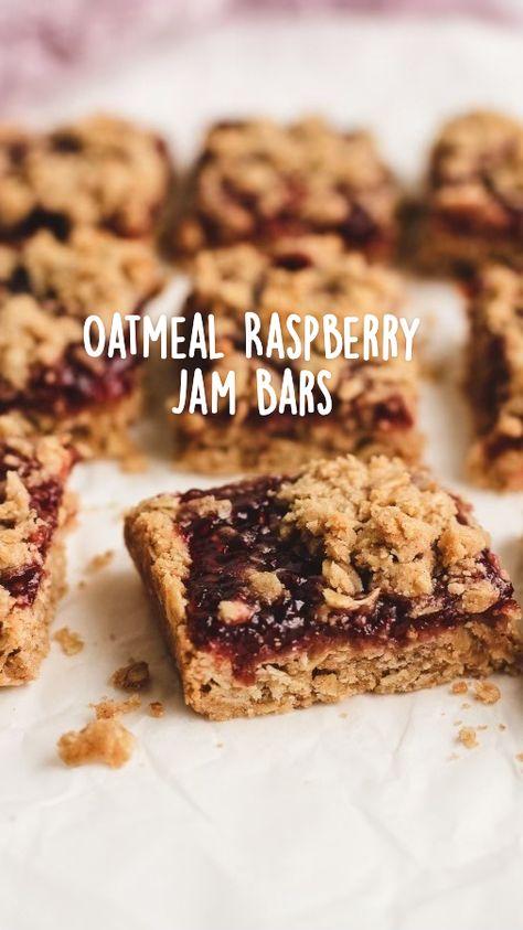 Oatmeal Raspberry Jam Bars
