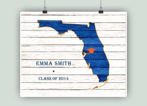 Florida University, Graduation Gift, Florida art map ... on usc map, dc map, uh map, auburn university map, cu map, pe map,