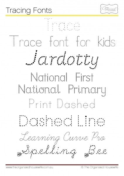 Handwriting & Tracing Fonts to help you get the kids writing without having to make dashes in crayon oh you know you do it! Lol, or whatever you can grab that's close to you (; #fonts, #kids, #writing, #cursive, #practice