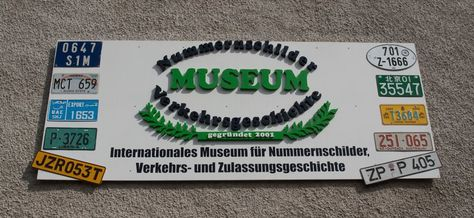 12 best Nummernschildmuseum - license plate museum images on Pinterest |  Licence plates, License plates and Museums