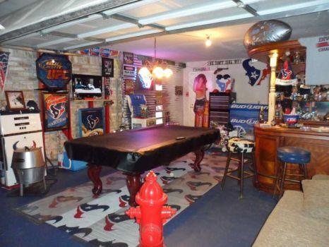 Houston Texans Man Cave Decor : Houston texans garage man cave caves