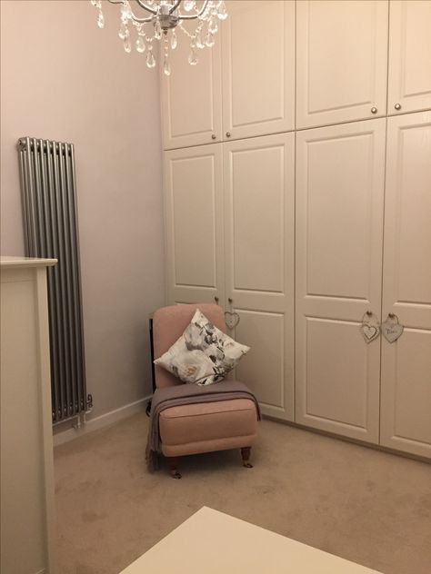 premium selection 18a63 dfb91 Master bedroom with built in wardrobes, Laura Ashley Chair ...