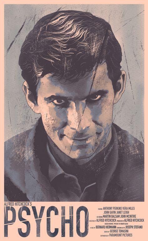 Psycho movie poster, Daniel Simmonds