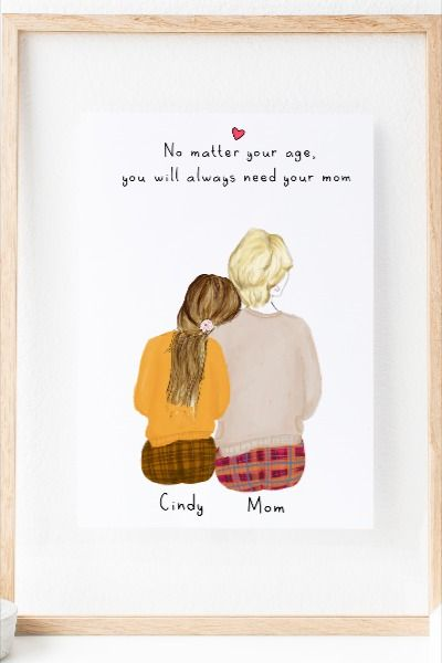 Personalized Daughter And Mom Wall Art Mothers Day Gifts From Daughter Mother Birthday Gifts Grandmas Mothers Day Gifts