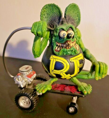 "4/"" Green  Blue Rat Fink  /""Daddy/"" ED Roth  Action Figure No Box"