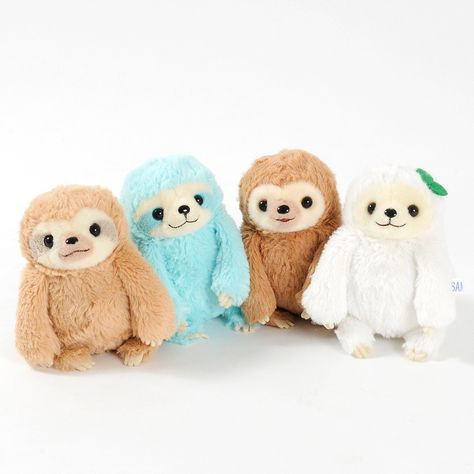 Order the full set and receive a randomly selected mini plushie as a free bonus!*Please note that the series and version of the free bonus mini plushies will be selected at random. Sloths - not the most exciting of animals, but they are super cute! As you can see here in this series of adorable little sleepy creatures! Meet Mikke - a brown male sloth with stripes on his face, Bikke who looks just like Mikke only blue, Futtan who is a similar color to Mikke but without the stripes and has a ...