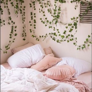 Uo Hanging Ivy Leaves Plant Vines Room Inspiration Bedroom Aesthetic Bedroom Indie Room