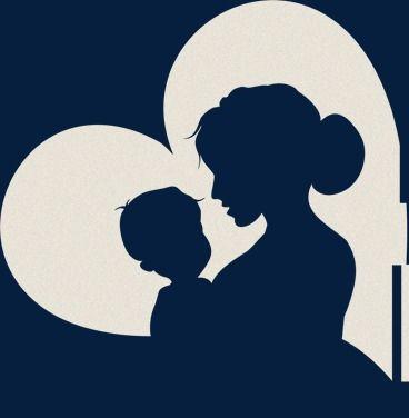 Silueta En Forma De Corazon Forma De Corazon Silueta En Forma De Corazon Mama Png Y Psd Para Descargar Gratis Pngtree Mom Art Mother Art Silhouette Art