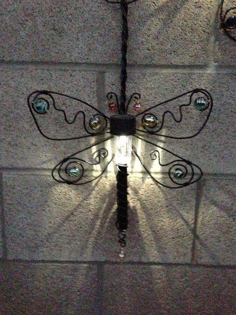 Dragonfly Hanging Solar Light Outdoor By Carebarescreations Solar Lights Hanging Solar Lights Outdoor Solar Lights