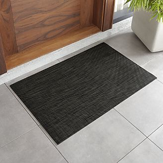 Chilewich Basketweave Carbon Woven Floormat Crate And Barrel Basket And Crate Crates