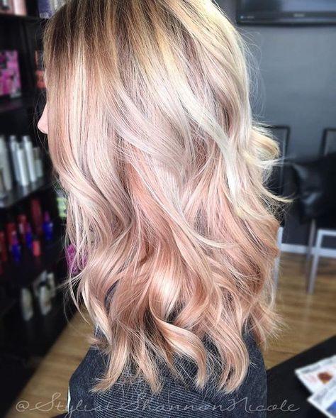 pastel pink hair - Pantone rose quartz hair inspiration