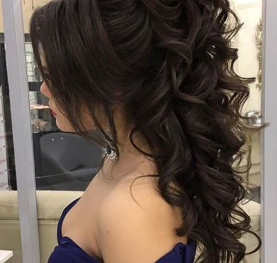 Prom Hairstyles For Long Hair Half Up Half Down 2018