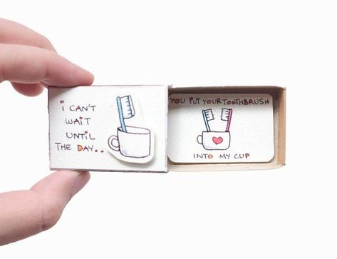 """Witty Love's Day Card/ Card for wife/Love gift for him/ """"I can't wait until the day I put your tooth"""