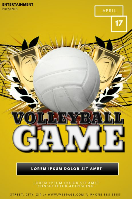 100 Volleyball Poster Customizable Design Templates Postermywall Poster Template Design Flyer Template Volleyball Posters