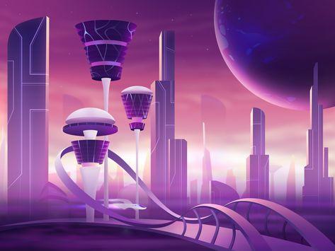 L-letter-design-studio-theglyph-illustration-art-space-purple-futuristic-2dart-gradients