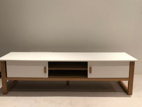 100 Tv Cabinet White Natural Wood Freedom Furniture
