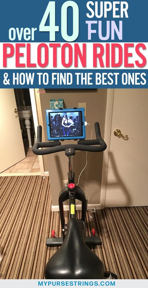 Here are over 40 of the best FUN Peloton rides that you definitely want to try out! Peloton rides can make working out a lot more fun - so definitely take advantage of everything Peloton app has to offer! Spin Bike Workouts, At Home Workouts, Gym Workouts, Peloton Bike, Cycling Workout, Cycling Tips, Road Cycling, Spin Bikes, Houses