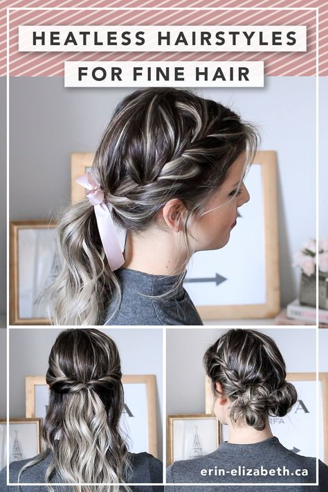 Incredibly Cool Hairstyles For Thin Hair See More Http Lovehairstyles Com Incredibly Coo Braids For Short Hair Short Hair Tutorial Braided Hairstyles Easy